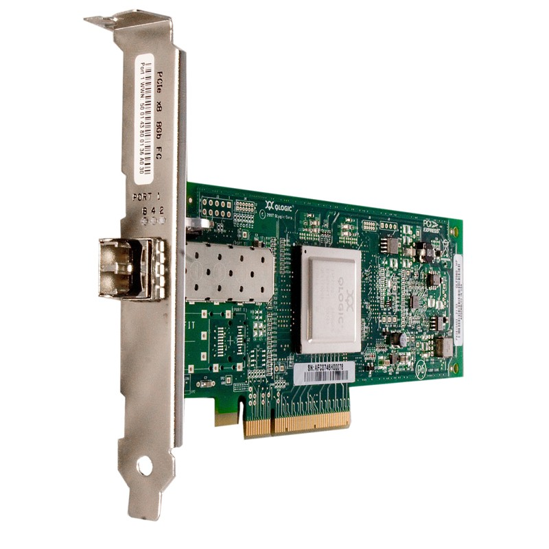 Adaptateur Qlogic Fibre Channel 8 GB/s PCIe Mono Port