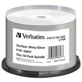 DVD-R Shiny Silver cake50