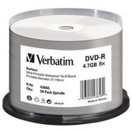 DVD-R 8x Wide Glossy Printable Waterproof No ID Brand cake50