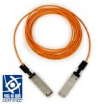 3M Câble Optique QSFP, longueur 21m