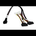 Broadcom Câble SAS NVMe U2 x8 SFF-8643 vers deux x4 SFF-8639