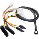 Broadcom Câble SAS NVMe U2 x8 SFF-8654 vers deux SFF-8639