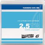 Tandberg Cartouche de données LTO-6 Ultrium 2.5 / 6.25 Tb