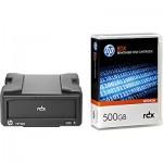 Lecteur HP StorageWorks RDX USB 3.0 externe livré avec une cartouche HP RDX 500Go