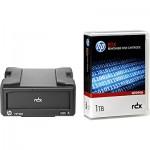 Lecteur HP StorageWorks RDX USB 3.0 externe livré avec une cartouche HP RDX 1To