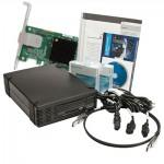 Quantum lecteur de bande externe demi-hauteur LTO-6 HH Ultrium interface SAS modèle C livré avec une carte SAS LSI et une bande LTO6