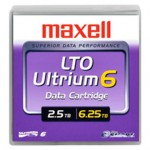Maxell Cartouche de données LTO-6 Ultrium REW 2,5 To/6,25 To