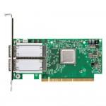 Mellanox ConnectX-6 VPI Adaptateur Infiniband 100Gb/s et Ethernet 100GbE Double port avec aux. card Socket Direct