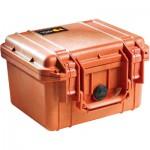 Peli 1300 valise de transport orange avec insert en mousse
