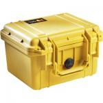 Peli 1300 valise de transport jaune avec insert en mousse