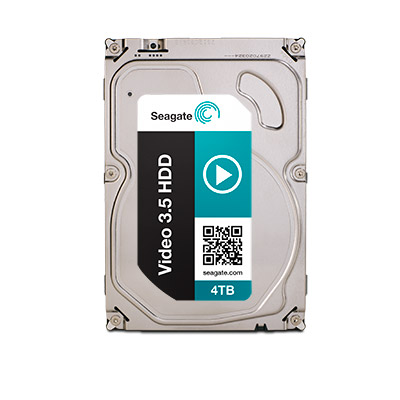 Seagate Disque Dur Video 3.5 HDD 4 To